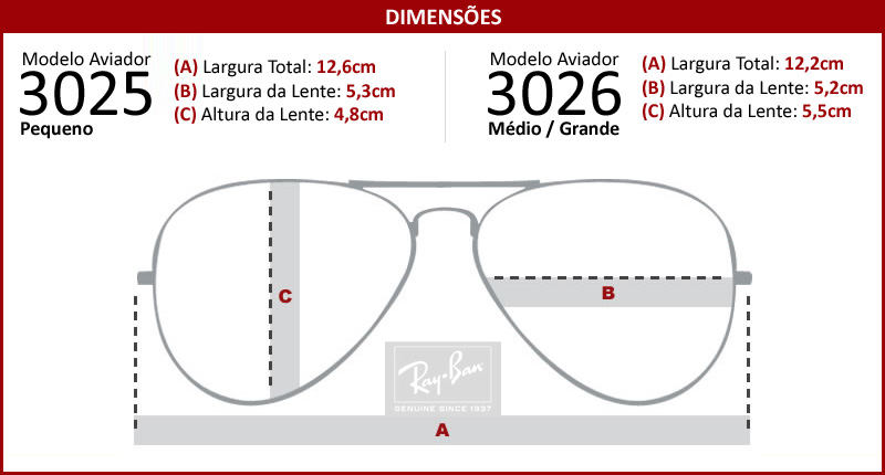 290800afa5bfe Atacados 25    Óculos Ray Ban Aviador 3025 3026 - Modelo Unissex com ...