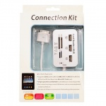 Adaptador Apple iPad 1 e iPad 2 Connection Kit - Kit HUB USB e Leitor de Cartões