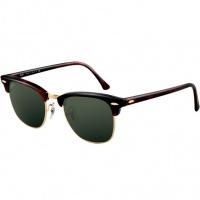 869cad671 Óculos Ray Ban Clubmaster 3016 - Modelo Unissex com Armação Marrom  Tartaruga e Lentes Cristalizadas Verde