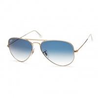 5b90e148866bb Óculos Ray Ban 3025 Aviador - Modelo Unissex Armação Dourada com Lentes  Policarbonato Azul Degradê
