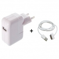 Carregador Fonte Tomada USB Apple iPhone iPad e Outros + Cabo iPhone 4G 4S