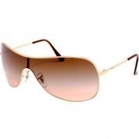 de5465838b3e8 Óculos Ray Ban Máscara 3211 - Modelo Unissex com Armação Dourada e Lentes  em Policarbonato Marrom