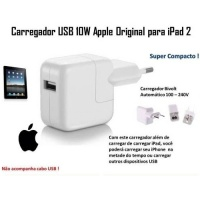 Carregador Fonte Tomada Apple iPad 1 2 e 3 - Original