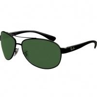 a3e13c3da Óculos Ray Ban Aviador 3386 - Modelo Unissex com Armação Preta e Lentes  Cristalizadas Verde