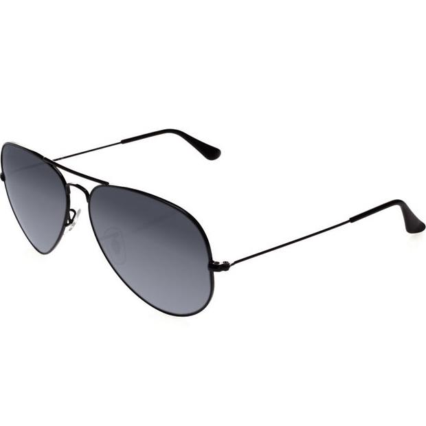 00b07a234 Atacados 25 :: Óculos Ray Ban Aviador 3025 3026 - Modelo Unissex com  Armação Preta e Lentes em Policarbonato Fumê Degradê